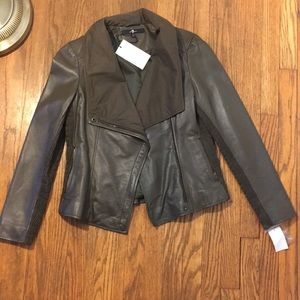 7 for all mankind leather jacket